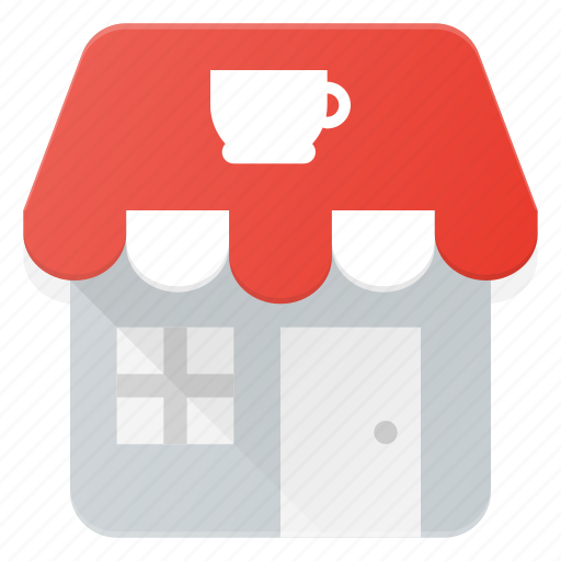 architecture, building, coffee, landmark, place, shop icon