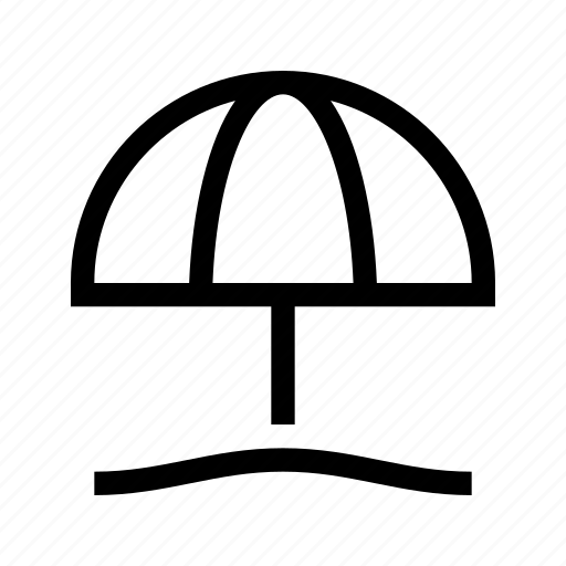 beach, place, summer, umbrella, wayfinding icon