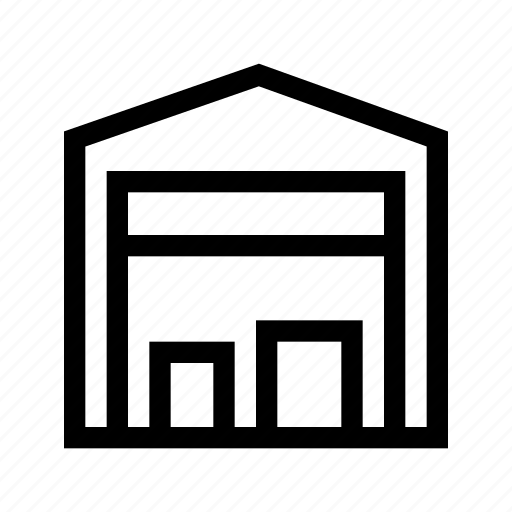 garage, place, storage, storehouse icon