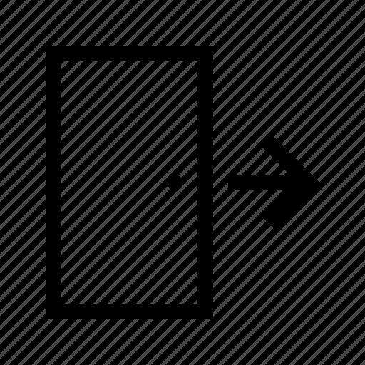 door, exit, place, wayfinding icon
