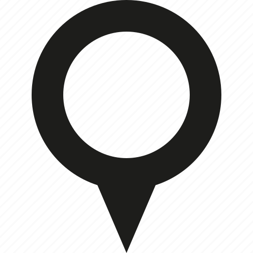 big, map, pin icon