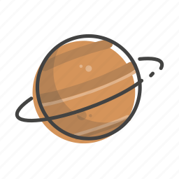 planet, saturn, solar, space, system, universe icon