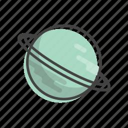 planet, solar, space, system, universe, uranus icon