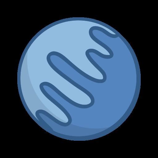 neptune, planet, space icon