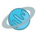 planet, space, uranus icon