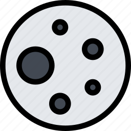 astronomy, moon, planet, science, solar system, space icon