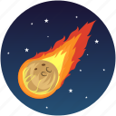 asteroid, comet, science, space, universe icon