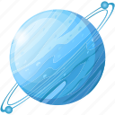 planet, science, space, universe, uranus icon