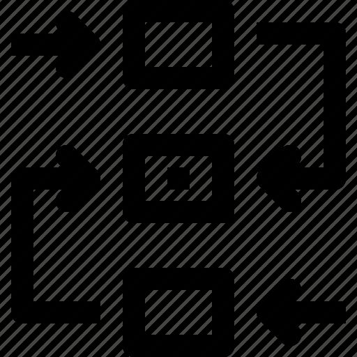 Arrow, plan, planning, process, process icon icon