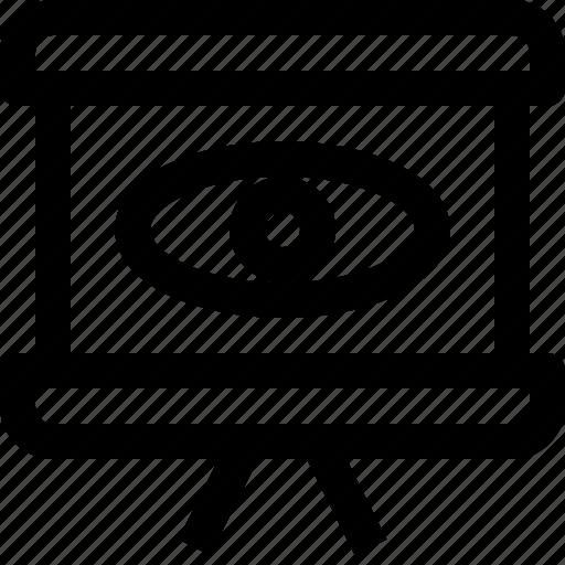 board, board icon, chart, chart icon, eye icon, vision icon