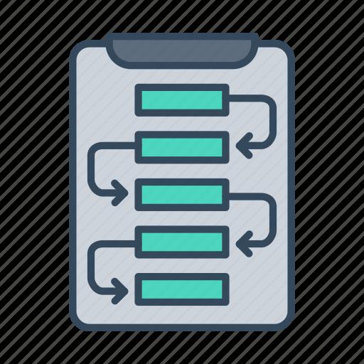business strategy, plan, planning, scheme, strategy, workflow icon