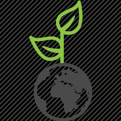 ecology, nature, plant, world icon