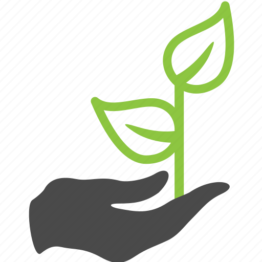 finger, hand, nature, plant icon