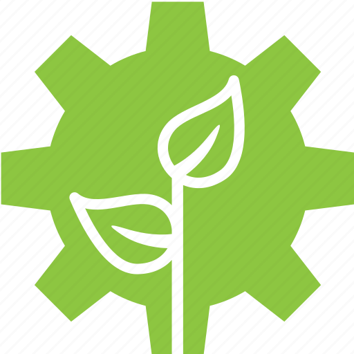 gear, nature, plant, settings icon