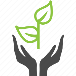 ecology, finger, hand, nature, plant icon