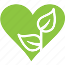 heart, love, nature, plant icon