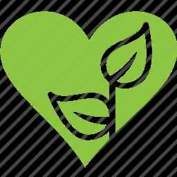 heart, love, nature, plant icon