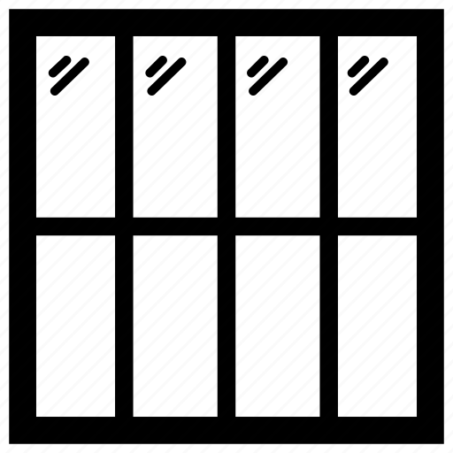 blinds, plantation shutters, roller blinds, shading, shutter, window shades, window shutters icon