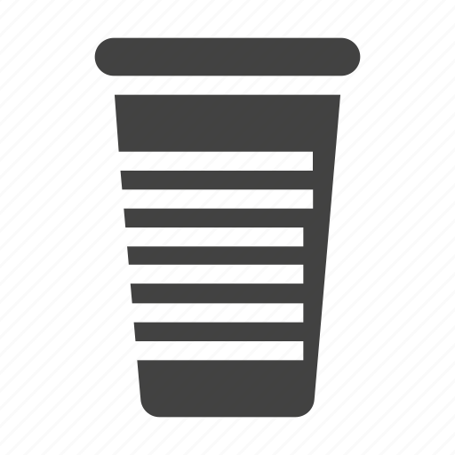 cup, disposable, glass, plastic, tableware icon