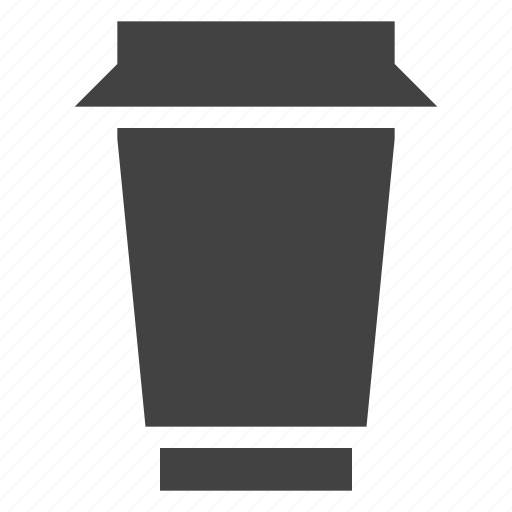 coffee, cup, package, packaging, plastic icon