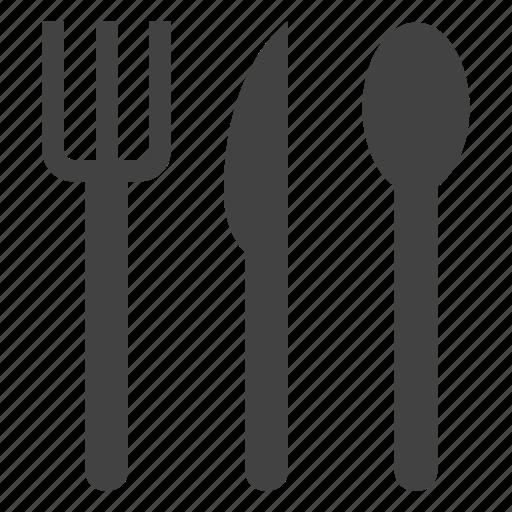 disposable, fork, plastic, spoon, tableware icon