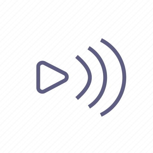 emission, music, play, player, radar, radiation, sound icon