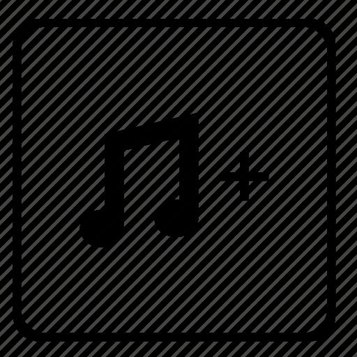 add, function, music, player, sound, volume icon