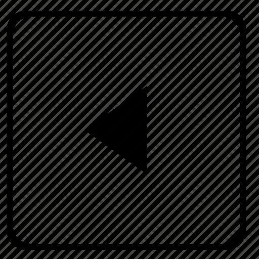 arrow, back, go, menu, navigation, player icon
