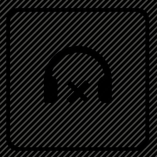 cancel, device, function, headphones, player, sound, volume icon