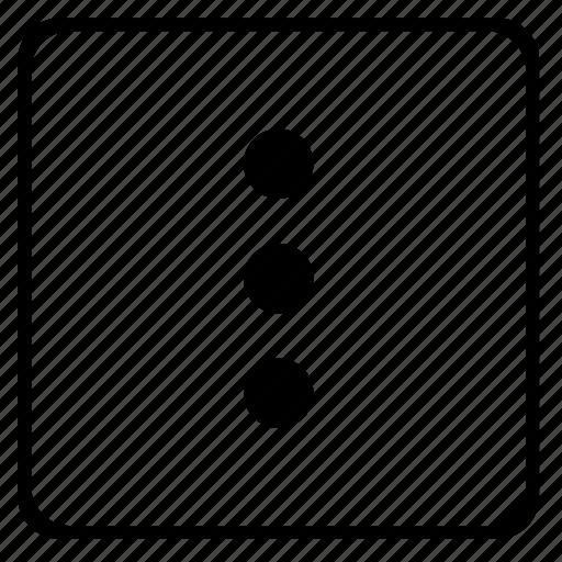 additional, menu, player, ui, vertical icon