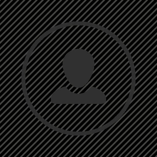 Profile, account, person, user, man, avatar, male icon