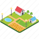 country house, countryside, farmhouse, rural house, village icon