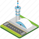air traffic, airport, airport terminal, airport tower, control tower icon