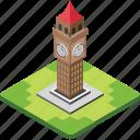 big ben, clock tower, elizabeth tower, london monument, london tower icon