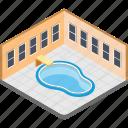 indoor pool, paddling pool, poolside, swimming pool, wading pool icon