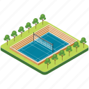 badminton court, badminton ground, football pitch, soccer field, tennis court icon