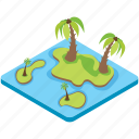 island, resort, landscape, scenery, beach
