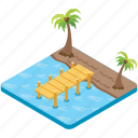 beach broadwalk, boardwalk, bridge, coast, walkway icon