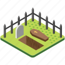 cemetery, funeral, gravestone, graveyard, tombstone icon