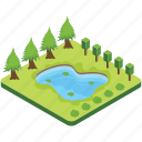 lake, pond, pool, puddle, river