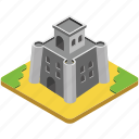 castle, fort, fortress, historical place, medieval fort icon