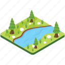 landscape, ocean, river, scenery, valley