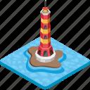 beacon, lighthouse, nautical tower, seamark, watchtower icon