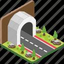highway, road, tunnel, underground passageway, underpass