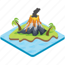 earthquake, explosion, magma, volcanic eruption, volcano icon