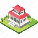 architecture, luxury house, modern house, residential building, villa icon