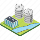 water container, water reservoir, water storage, water tank, water tower icon