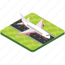 airfield, airplane, airport, airstrip, aviation, runway icon
