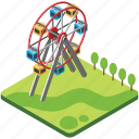 amusement park, attraction park, playground, public park, theme park icon