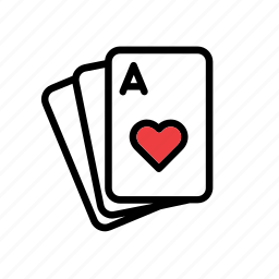 ace, cards, casino, game, heart, plaything, poker icon
